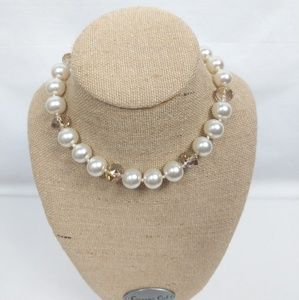 White & Clear Pearl Fashion Womens Necklace